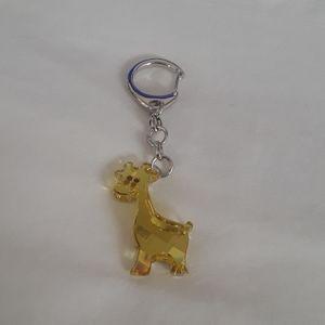 Swarovski Authentic giraffe keychain